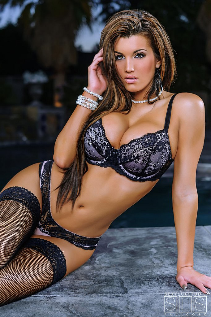 Sexy lace lingerie shot