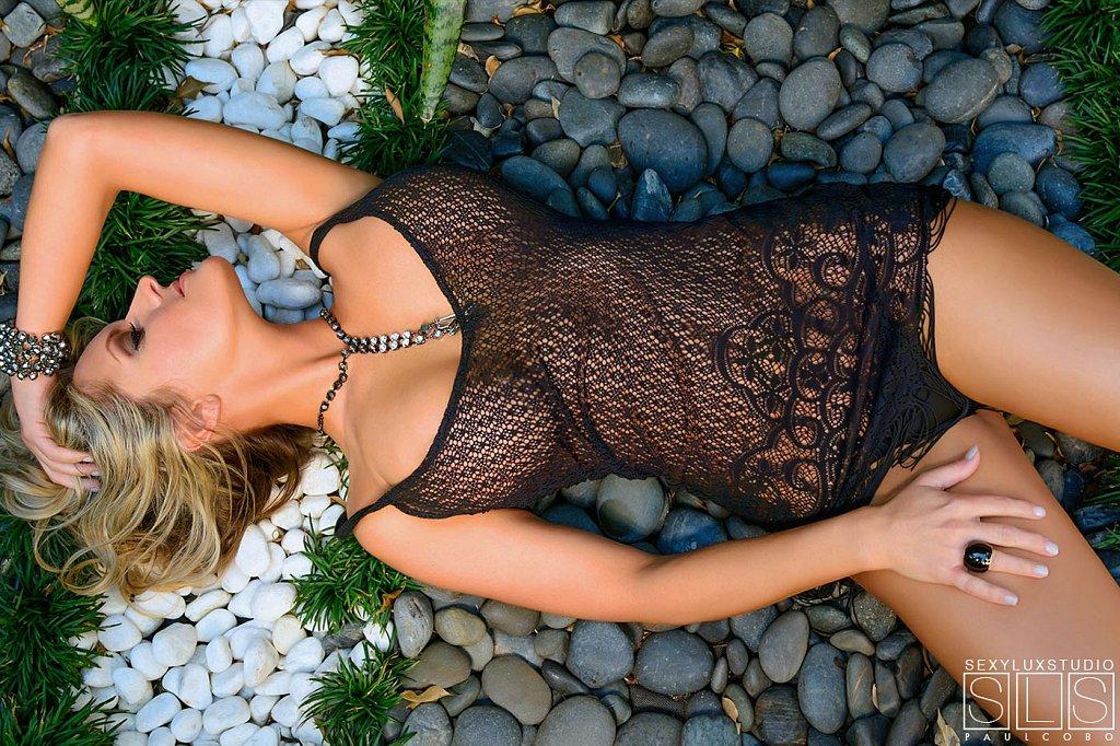 Sexy lingerie photo shoot