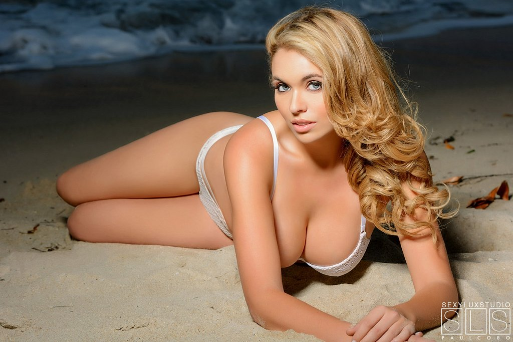 Sexy lingerie beach photo